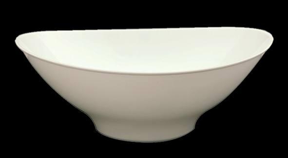 קערה אליפסה 64 OZ לבן