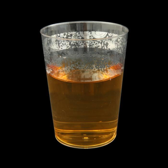 כוס שקוף oz10 מעוטר כסף הרמוניה