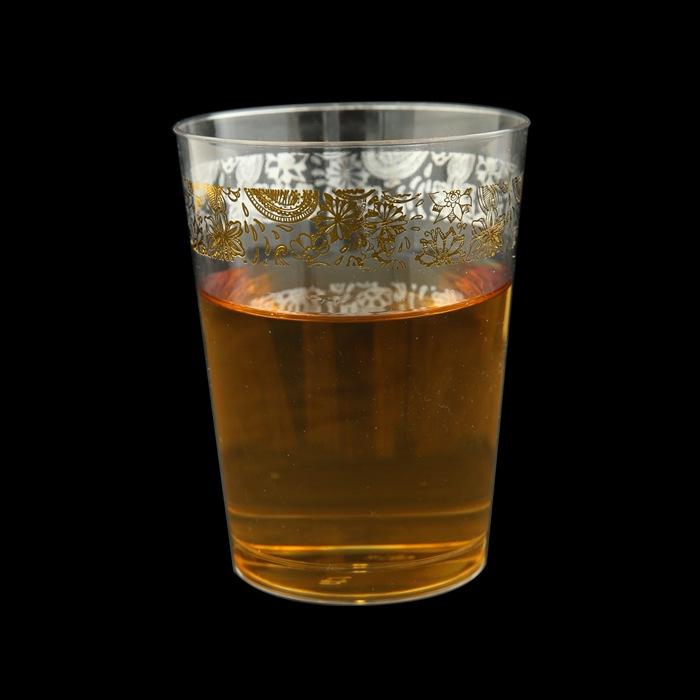 כוס שקוף oz10 מעוטר זהב הרמוניה