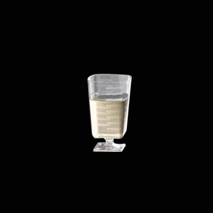כוס יין מרובע -