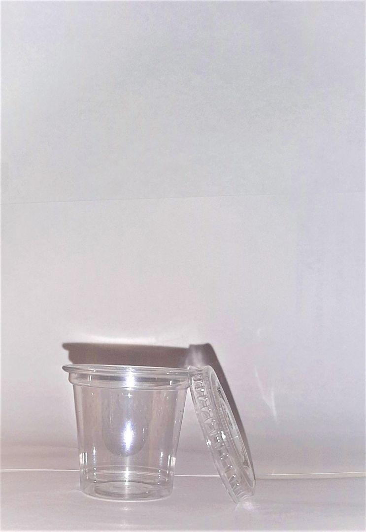 גביע רוטב + מכסה 1 OZ