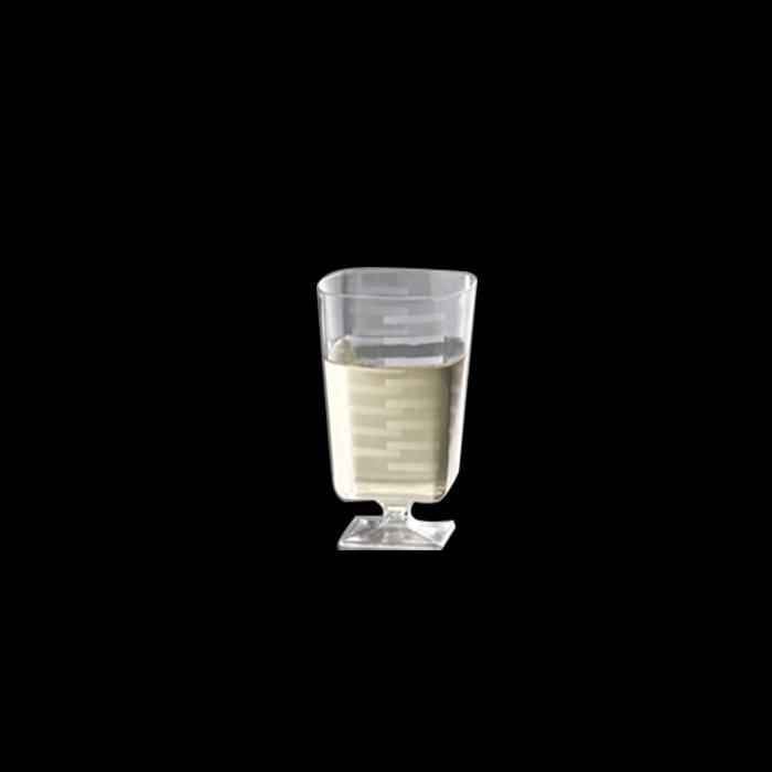 כוס יין מרובע 2 oz - שקוף