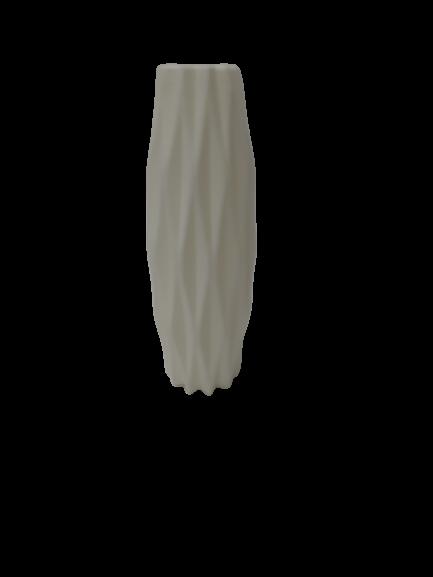 אגרטל מחוטב לבן