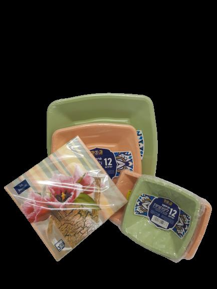 ערכת אירוח ירוק אפרסק
